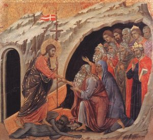 "Duccio di Buoninsegna, ""The Harrowing of Hell"""