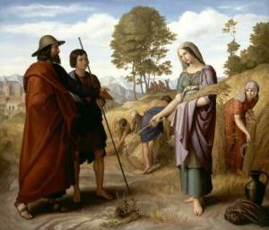 """Julius Schnorr von Carolsfeld, """"Ruth in Boaz's Field,"""" 1828"""