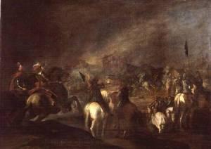 "Esteban March, ""Joshua at the Walls of Jericho"""