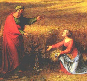 """Landscape with Ruth and Boaz"" (detail), Joseph Anton Koch, 1823"