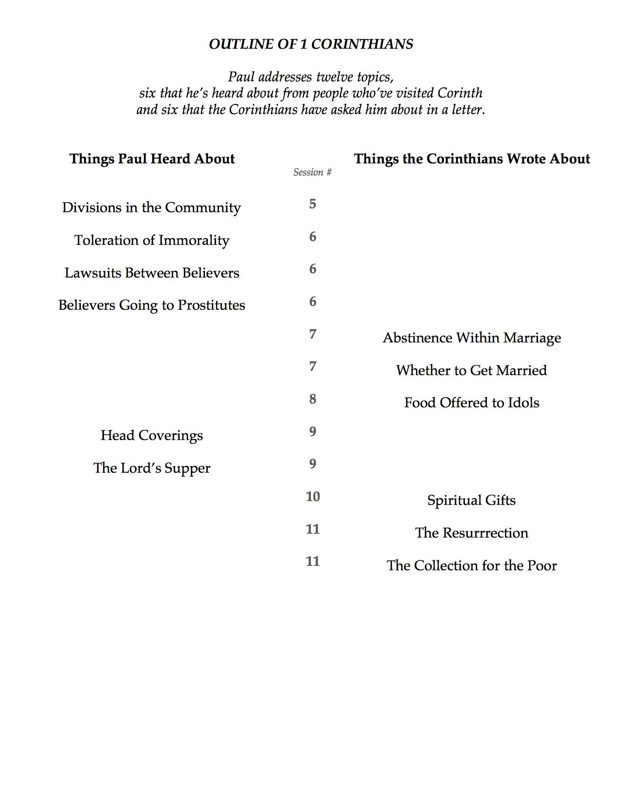 1 corinthians study guide pdf