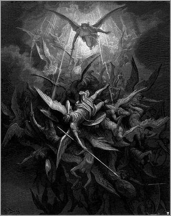 Gustave Doré's depiction of Satan's defeat